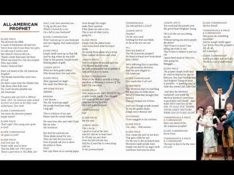 Book of Mormon - All Americal Prophet - Lyrics