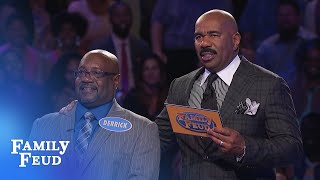 Video Derrick's on 196 points! Can he get FOUR more for $20,000? | Family Feud MP3, 3GP, MP4, WEBM, AVI, FLV Desember 2018