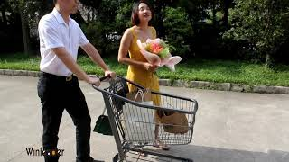 YLD-MT100-2F American Shopping Cart American Style Shopping Cart,American Shopping Cart, American S youtube video