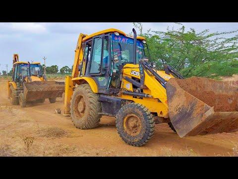 JCB 3DX Bucket vs Breaker 3 Tractor Going to Making Pond in private Land   jcb video