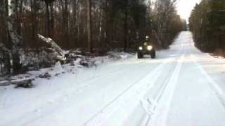 7. 2004 Arctic Cat 500 WOT Up Hill Pull