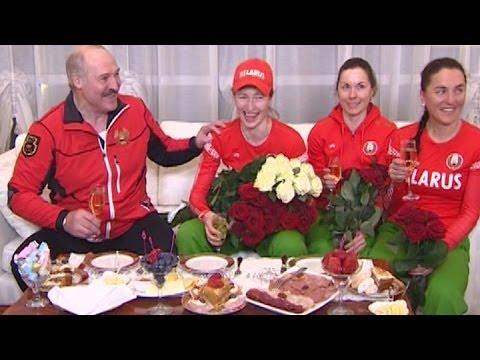 Встреча Александра Лукашенко с Дарьей Домрачевой