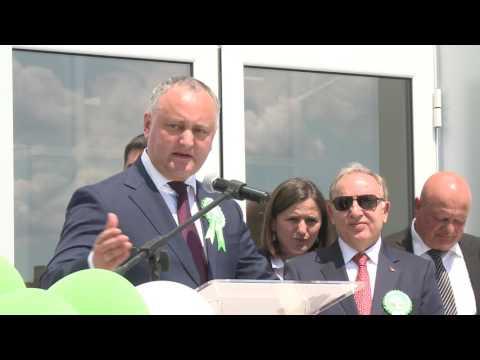 Președintele țării a participat la ceremonia de inaugurare a grădiniţei de copii din satul Cişmichioi