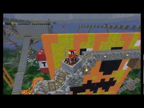 Epic Minecraft 1.8.1 Rollercoaster in survival mode: The best / Longest.In HD