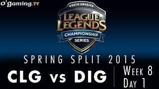 LCS NA Spring 2015 - W8D1 - CLG vs DIG