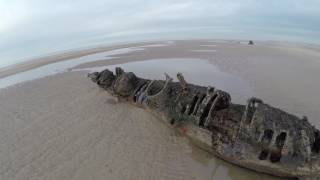 Aberlady United Kingdom  City new picture : Drone Flight; WW2 XT Class Sub Wrecks - Aberlady Bay