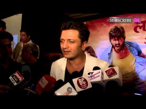 Ritesh Deshmukh at Lai Bhari sucess party part 4