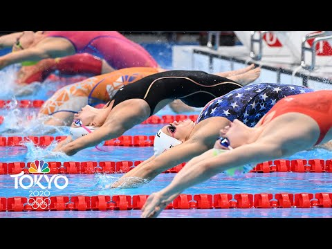 Three heats, THREE OLYMPIC RECORDS in women's 100m backstroke | Tokyo Olympics | NBC Sports