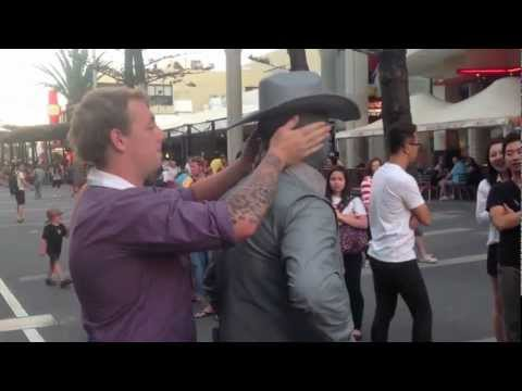 gets - Hilarious video of a douche bag annoying the street performer on Cavil Ave - Surfers Paradise. Queensland, AUSTRALIA!