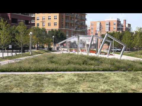 Inside the completed Adams Sangamon Park