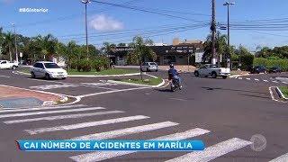 Cai número de acidentes em Marília
