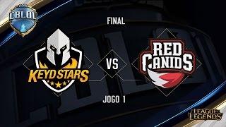 Keyd Stars x Red Canids (Jogo 1 - Final) - Primeira Etapa CBLoL 2017