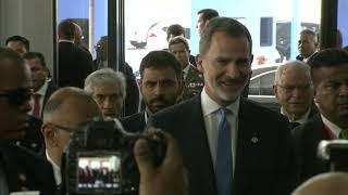 Llegada de S.M. el Rey a la investidura de Laurentino Cortizo en Panamá