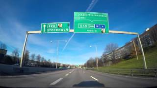 4K quality - Driving within the city limits of Gothenburg and towards the outskirts on European Route E6. It´s a beautiful sunny ...