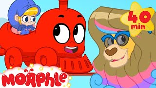 Video Animal Train - My Magic Pet Morphle | Cartoons For Kids | Morphle TV | Mila and Morphle MP3, 3GP, MP4, WEBM, AVI, FLV Januari 2019