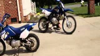 10. Yamaha TTr-90 TTr-125 le Dirtbikes Motorcycle Cold Start And Ride