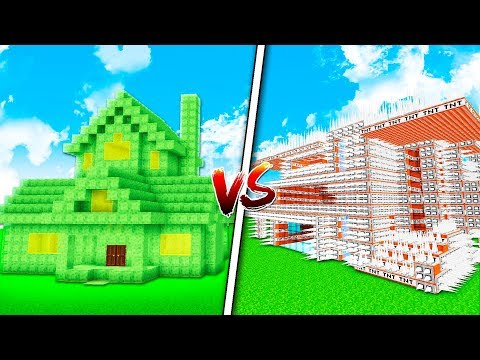 SLIME HOUSE VS TROLL HOUSE! - MINECRAFT