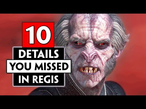 10+ Small Details You Missed About Regis | THE WITCHER 3 (Blood and Wine)