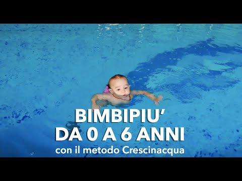 Nuoto bambini: da 0 a 6 anni.