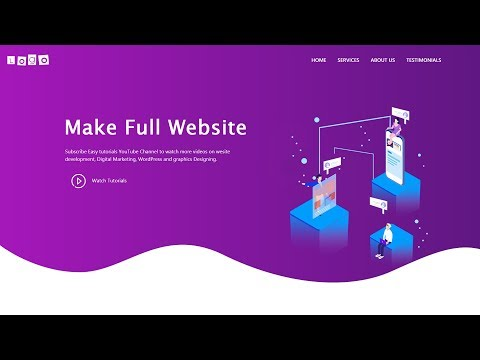 How To Make A Website Using HTML CSS Bootstrap | Complete Website Design Tutorial