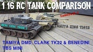 Tamiya&Heng Long 1/16 RC Tanks Sound Off Comparison HD