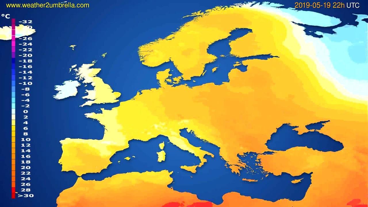 Temperature forecast Europe // modelrun: 00h UTC 2019-05-17