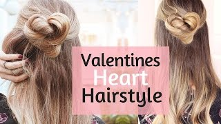 DIY Heart Knot Valentines Hairstyle - YouTube