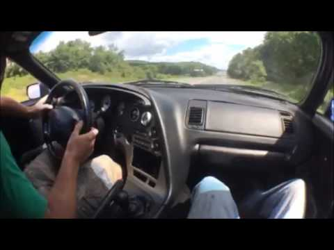 Scary fast MK4 single turbo supra highway pull and 2 step
