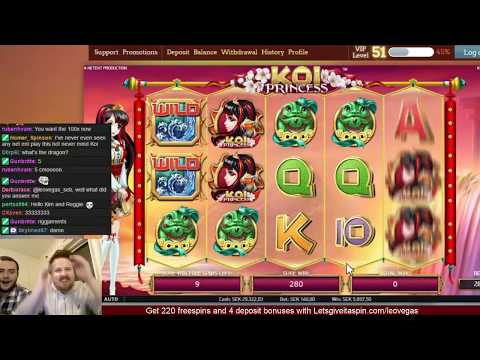 Huge bets and wins in Koi Princess