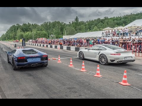 porsche 911 turbo vs lamborghini aventador vs mercedes c63 amg