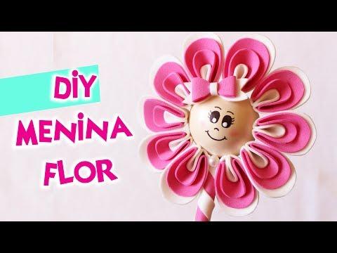Ponteira Menina Flor