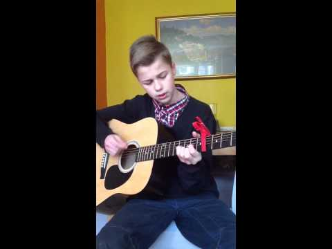 Ben Ellis - My 12 yr old nephew singing cover of ed sheerans Lego house.