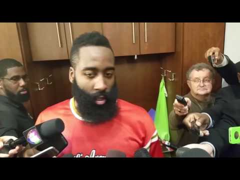 James Harden after an MVP performance against Cavs