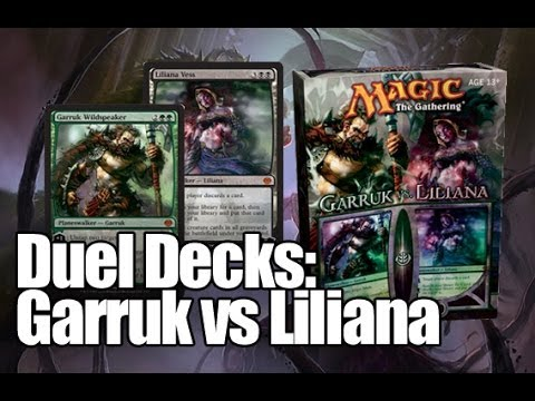 duel - Duel Decks: Garruk vs. Liliana is the fourth set in the Duel Decks series. It was released on October 30, 2009. Garruk vs. Liliana contains two pre-construct...