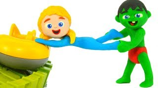 SUPERHERO BABIES LOVE PLAYING IN THE FUN PARK • Superhero Babies Play Doh Cartoons For Kids