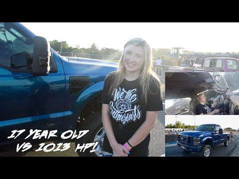 1000+ HP Diesel Driven by a 17 Year Old Girl Wins at Street Nite