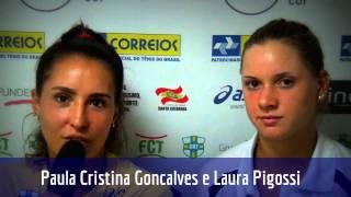 Paula Gonçalves e Laura Pigossi analisam participação nas duplas do Brasil Tennis Cup