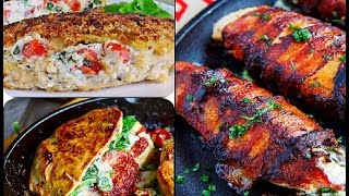 Stuffed Chicken breast recipes are easy and appetizing ways to bake delicious chicken. i made 3 different types of stuffed chicken breast recipes than will spice ...