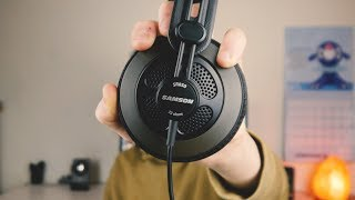 Video STUDIO QUALITY HEADPHONES UNDER $50? Samson SR850 review MP3, 3GP, MP4, WEBM, AVI, FLV Juli 2018