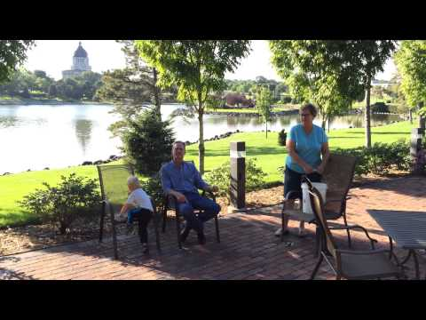 "SD First Lady Linda Daugaard assists the Governor in his ALS Ice Bucket Challenge while Grandson Henry says ""do it again grandma.""   Video: sd.gov.governor"