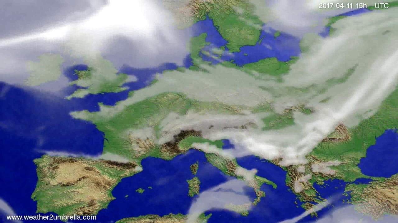 Cloud forecast Europe 2017-04-09