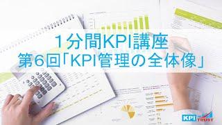 [KPI1分間講座] KPI管理の始め方 第6回 KPI管理の全体像