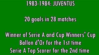Michel Platinis 68 Tore in der Serie A