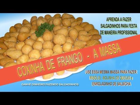 COXINHA DE FRANGO - COMO FAZER A MASSA