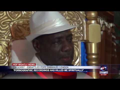 'I'M SORRY'   EMBATTLED POPE EMMANUEL LONDON (видео)