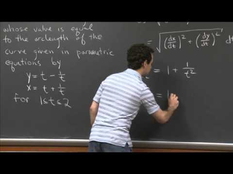 Parametric Arclength   MIT 18.01SC Single Variable Calculus, Fall 2010