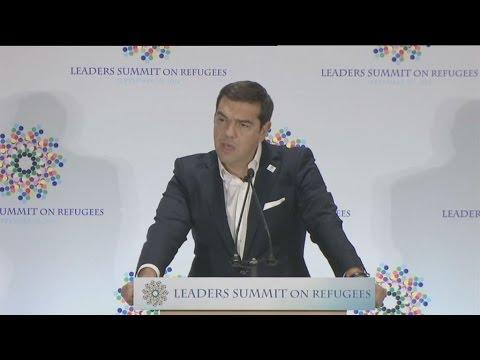 Ομιλία του πρωθυπουργού Α. Τσίπρα για το προσφυγικό, στη Σύνοδο Ηγετών στη Νέα Υόρκη