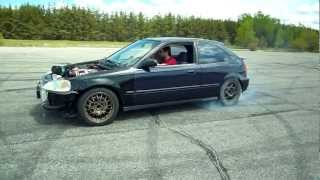 7. Civic RWD SR20DET part 1 Test Run ( Drift )