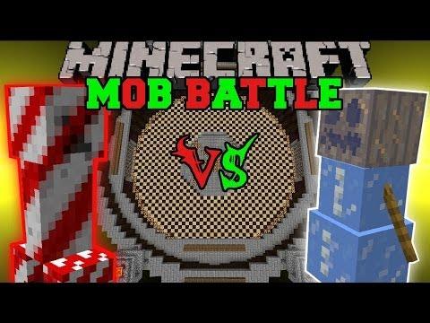CANDY CREEPER VS ICE GOLEM - Minecraft Mob Battles - Christmas Battle Mods