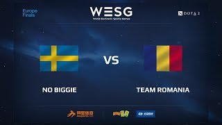 No Biggie vs Team Romania, WESG 2017 Dota 2 European Qualifier Finals